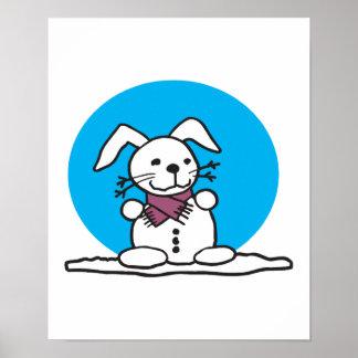 snowman bunny poster