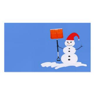 Snowman business card