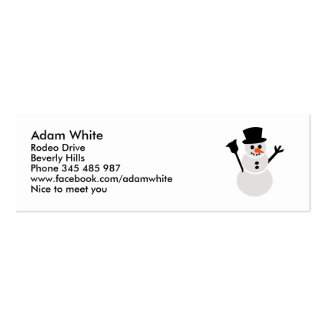 Snowman Business Card Templates