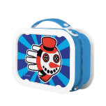 Hand shaped Snowman Button Eyes and Smiley Face Lunch Box