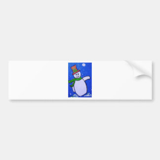 Snowman by pixi -art.com bumper sticker