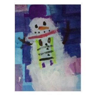Snowman by Seth Postcard