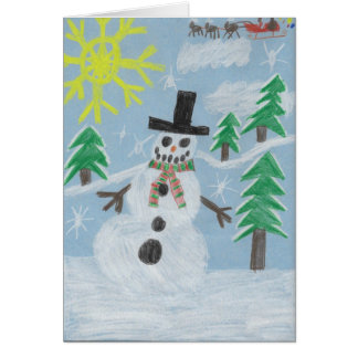 Snowman by Ty Card