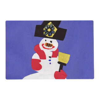 Snowman by VictoriaShaylee Laminated Place Mat
