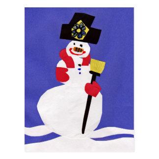 Snowman by VictoriaShaylee Postcard