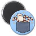 Snowman Candy Cane Christmas Magnet magnet