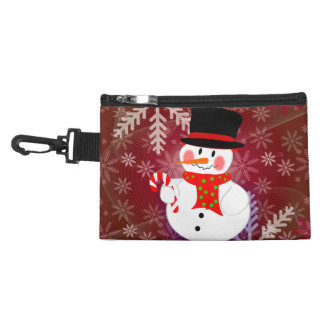 Snowman & Candycane Accessory Bag