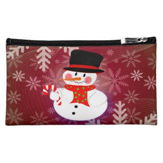 Snowman & Candycane Cosmetic Bag