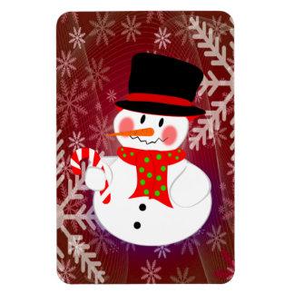 Snowman & Candycane Magnet