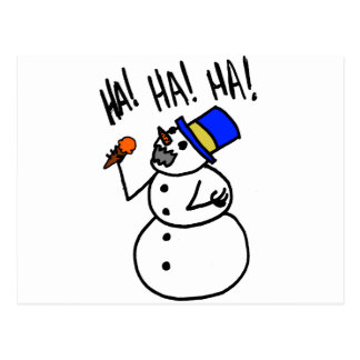 Snowman Cannibal Postcard