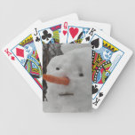Snowman carrot nose snow deck of cards