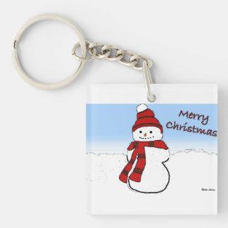Snowman Cartoon Acrylic Keychain