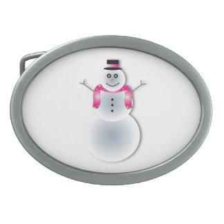 Snowman cartoon belt buckle