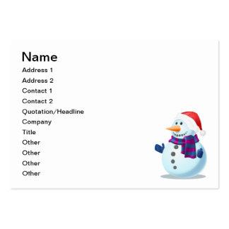 Snowman cartoon business cards