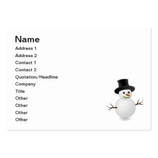 Snowman cartoon business card template
