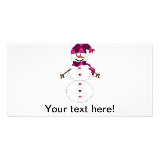 Snowman cartoon card