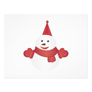 Snowman cartoon flyer