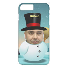 Snowman Cartoon With Your Own Face iPhone 8 Plus/7 Plus Case