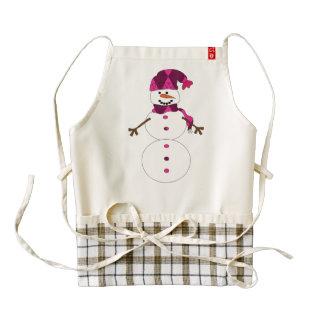 Snowman cartoon zazzle HEART apron