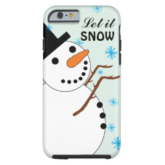 Snowman Catching Snowflakes iPhone 6 Case