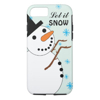 Snowman Catching Snowflakes iPhone 7 Case