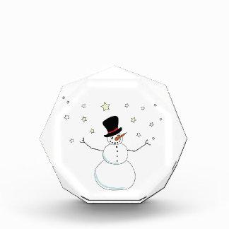 Snowman Celabration Acrylic Award