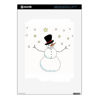 Snowman Celebration Decals For iPad 3