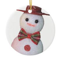 Snowman Ceramic Ornament