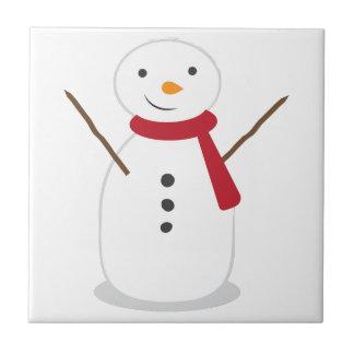 Snowman Ceramic Tile
