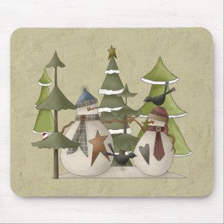 Snowman Chat Mouse Pad