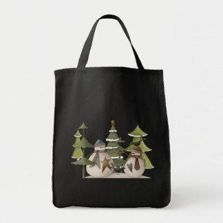 Snowman Chat Tote Bag