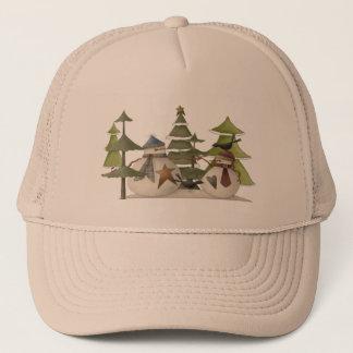 Snowman Chat Trucker Hat