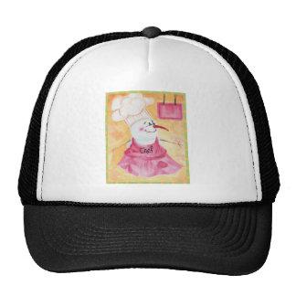 Snowman Chef in Apron & Chef's Hat