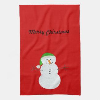 Snowman Chirstmas hand towel