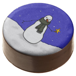 Snowman Chocolate Covered Oreo