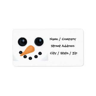 Snowman Christmas Address Labels