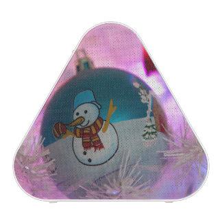 Snowman - christmas balls - merry christmas bluetooth speaker