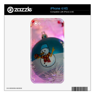 Snowman - christmas balls - merry christmas skin for the iPhone 4