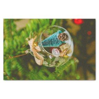 "Snowman Christmas bauble 10"" X 15"" Tissue Paper"
