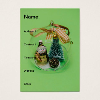 Snowman Christmas bauble Business Card