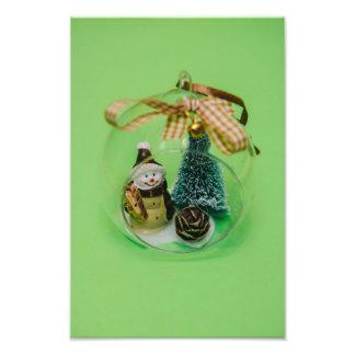 Snowman Christmas bauble Photo Print