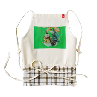 Snowman Christmas bauble Zazzle HEART Apron