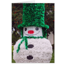 Snowman Christmas Card at Zazzle