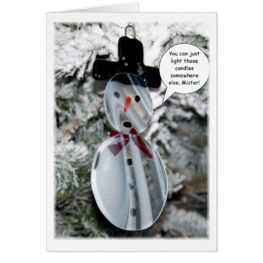 Snowman Christmas Card (funny)