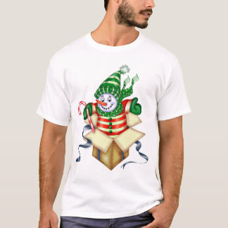 SNOWMAN CHRISTMAS CARTOON Men's Basic T-Shirt