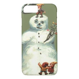 Snowman Christmas Elves Christmas Lights iPhone 7 Case