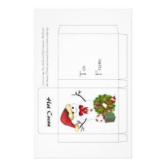 Snowman Christmas flyer