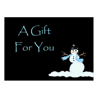 Snowman Christmas Gift Card Certificates Business Card Templates