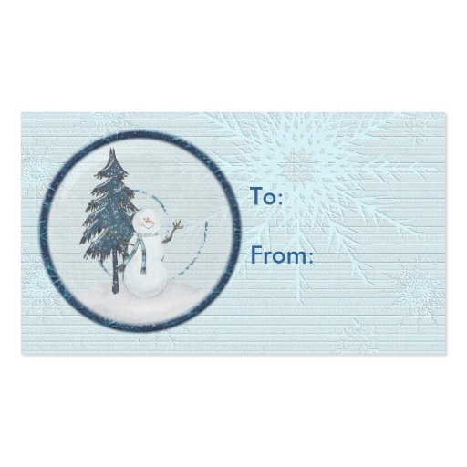 Snowman Christmas Gift Tag Business Card