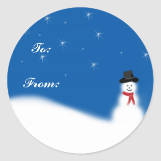 Snowman Christmas Gift Tags Sticker